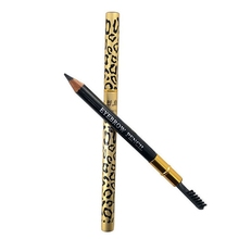 Hot High Quality Leopard Brown Eyebrow Pencil Pen With Brush Makeup Cosmetics free shipping