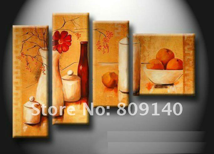 Kitchen dining room oil painting canvas artwork abstract for Kitchen dining room wall art