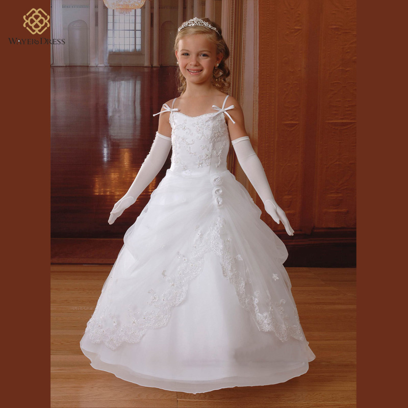 Hot Sale White Flower Girl Dresses For Weddings Bolero2015