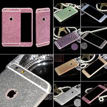 Бесплатная доставка блестящий всего тела с блестками для iPhone 6 6 S 4.7 дюймов телефон наклейка матовый экран протектор WHD1258