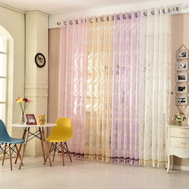 Online get cheap purple beige curtains for B q living room curtains