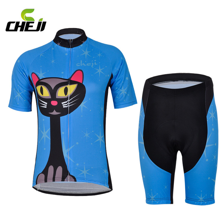 Style team Cycling Jersey shorts Sleeve Bike Jerseys cycling 2015 Women sports riding Suit bicycle clothes for Women(China (Mainland))