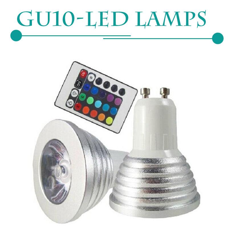 gu10 rgb led bulb light 16 color rgb changing spotlight downlight 220v with remote controller. Black Bedroom Furniture Sets. Home Design Ideas
