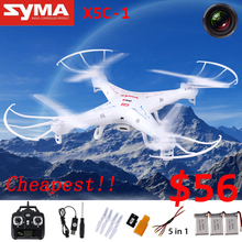 SYMA X5C-1 Upgrade X5C 2.4G 4CH 6-Axis RC Helicopter with 2MP HD Camera or without camera Remote Control Toys Quadrocopter Drone