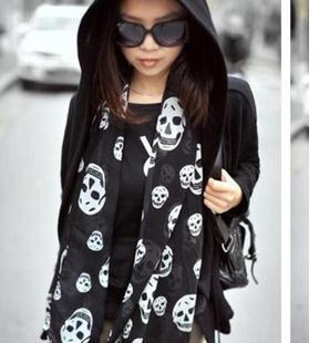 2014 New arrival High Quality Fashion Chiffon Scarf female silk scarves fashion skull scarf soft neckerchief shawl for womanОдежда и ак�е��уары<br><br><br>Aliexpress