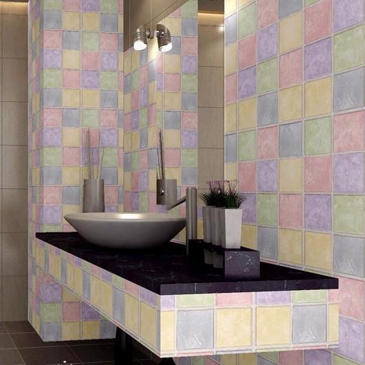 Papel de parede de pvc auto mosaico de parede home decor for Mosaico adesivo 3d