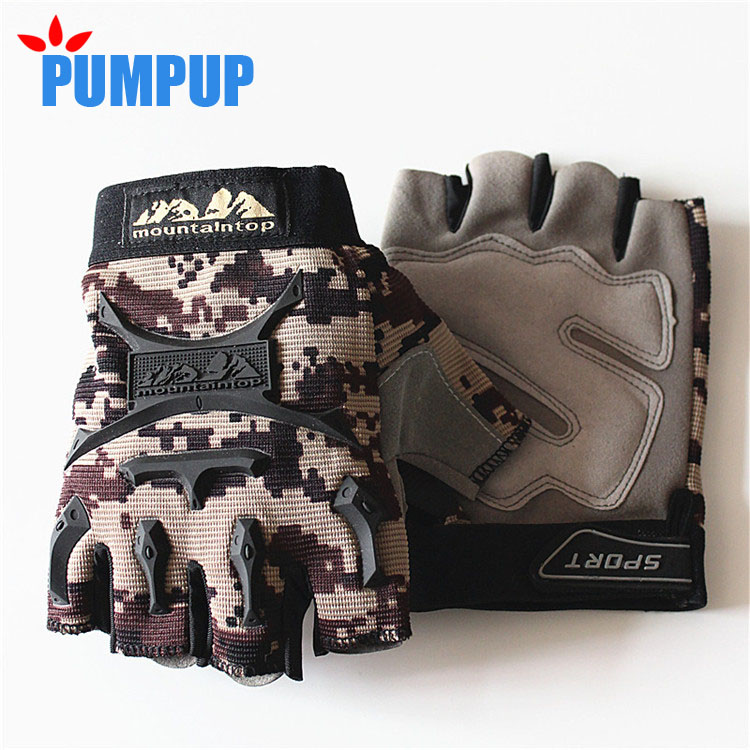 2016 Brand New Fingerless Gloves Men Outdoor Sports Half Finger Army Military Tactical Gloves Gym Training Weight Lifting Soft(China (Mainland))