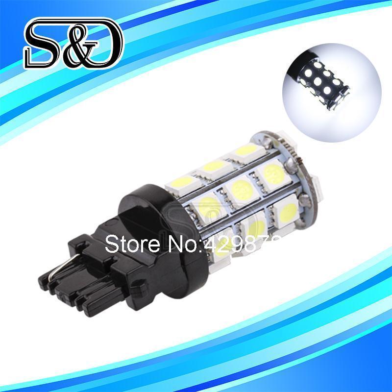 S&D Brand 1pc T25 27 SMD 5050 3156 Car Stop light Turn signal Backup led lamp led car light source parking lights p27w(China (Mainland))