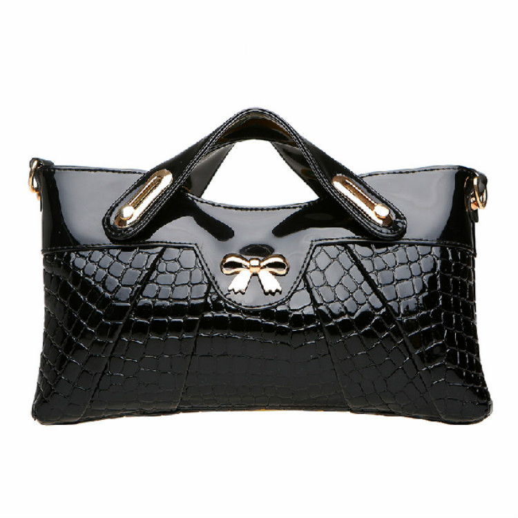 2015 Fashion Women Leather Handbags Crocodile Pattern Bags Handbag Woman Famous Brands Day Clutches Female Desigual Clutch(China (Mainland))