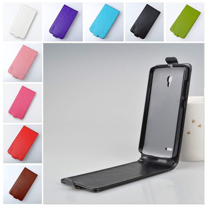 """New Arrival J&R Brand PU Leather Case for Alcatel One Touch Pop 2 5"""" 7043A 7043Y 7043K 7044 Premium LTE Phone Bag 9 Colors(China (Mainland))"""