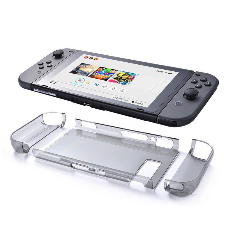 Nintendo Switch Clear Case Protective Shell Case Transparent Hard Back Cover Tablet Case and Joy Con Cases for Nintendo Switch(China (Mainland))