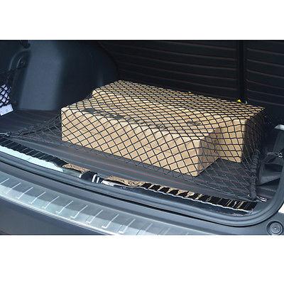Новый автомобиль магистральные эластичный нейлон сетка заднего багажа держатель грузовой чистая организатор 4 крючков
