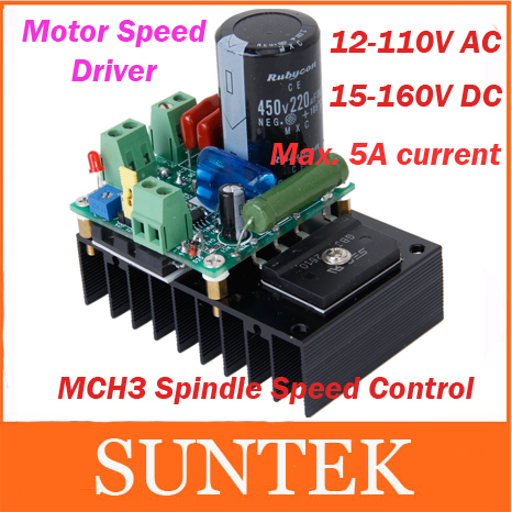 Free Shipping 15-160V 5A DC Motor Speed Controller Driver MACH3 Spindle Governor AC Speed Governer 1K-5KHZ(China (Mainland))