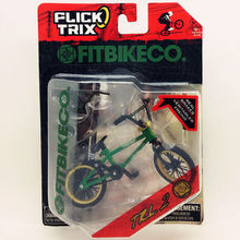 Newest Flick Trix Finger bike GREEN Bmx Diecast Nickel Alloy Stents Professional Finger Bicycle Novelty Mini Toys(China (Mainland))
