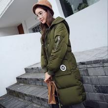 Style Long Patch Femmes Vers Le Bas Veste 2016 Mode D'hiver Manteau Canada Manteau Femme À Capuche Parkas Manteau Femme Vêtements de L'ukraine Royaume-Uni(China (Mainland))