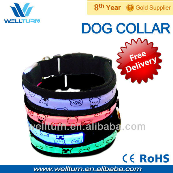 5PCS/LOT Best pet accessory wholesalers Free shipping High Quality LED pet collar(China (Mainland))