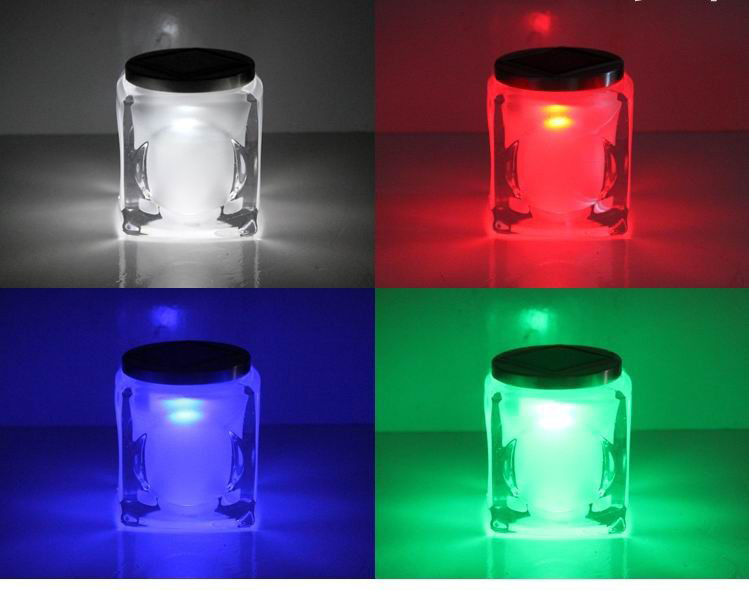 2015 Brand New Colors Changing Creative glass jar LED Night Light Decoration Lamp Nightlight great gift for kids(China (Mainland))