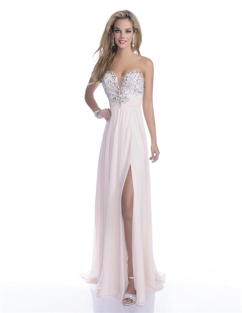 vestidos strapless largos