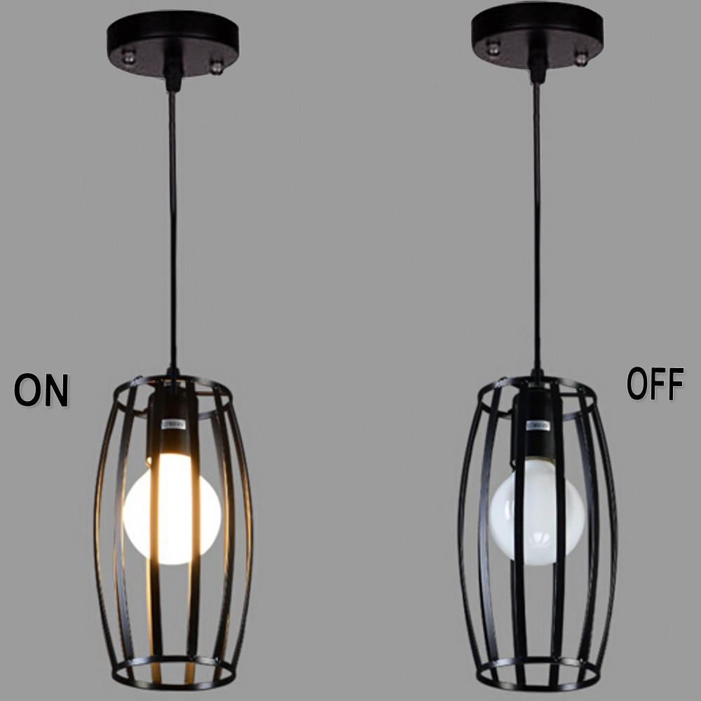 E27Metal Cylindrical shape Hollow lamp holder wrought iron black paint pendant Vintage Pendant lamp shades Droplight Lampshade(China (Mainland))