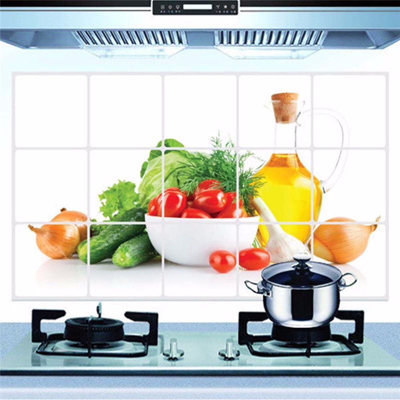 2016 Kitchen Oilproof Removable Wall Stickers Art Decor Home Decal Fruit Vegetable Print Kitchen