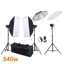 Photography Studio Soft Box Flash Lighting Kits 540w Godox Flash Light+Softbox*2+Light Stand+Trigger Receiver Photo Studio Set