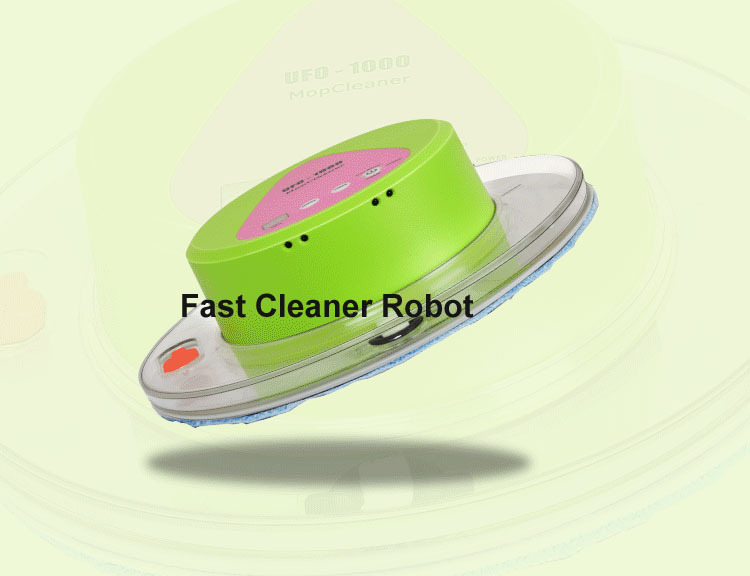 Newest Arrival Cheapest UFO Design Mini Robot Wet and Dry mop Cleaner with 247ML big Water tank(China (Mainland))