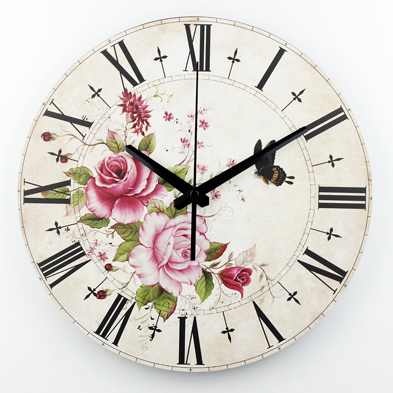 16 large decorative wall watch quartz bedroom decor wall - Wall picture clock decoration ...