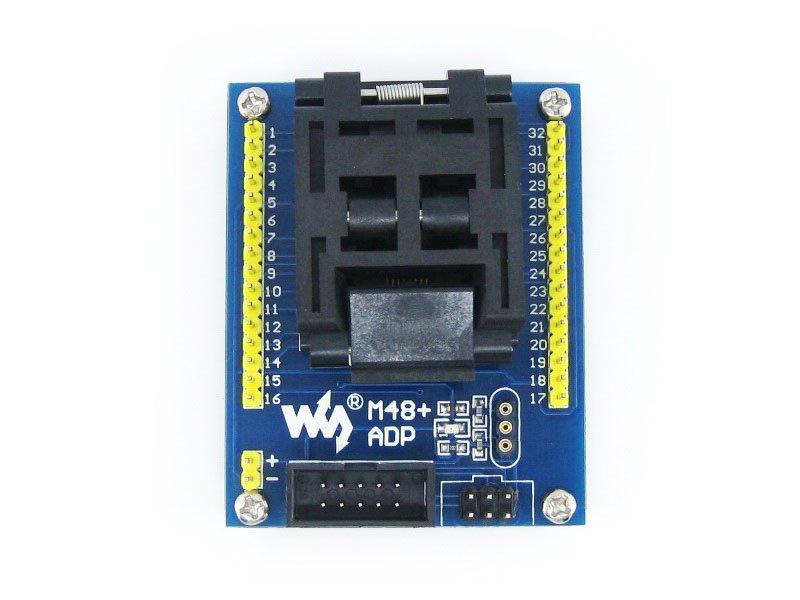 M48+ ADP Atmega8 ATmega48 ATmega88 ATmega168 mega48 mega88 TQFP32 AVR Programming Adapter Test Socket + Freeshipping(China (Mainland))