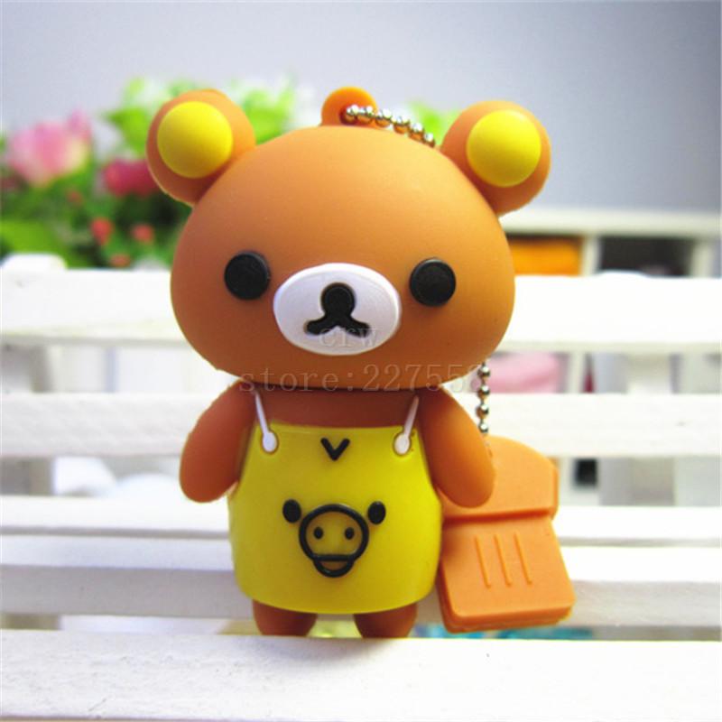 Pen drive cartoon cute bear 8gb/16gb/32gb/64gb bulk animal usb 2.0 flash drive flash memory stick pendrive(China (Mainland))