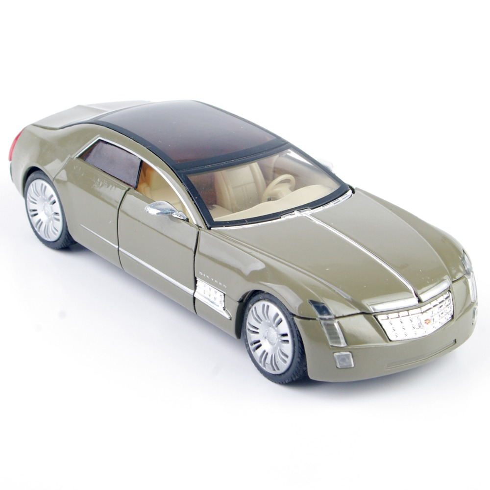 132 scale diecast cadillac car model mud color doors could be opened