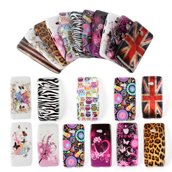 Wholesale Luxury Soft Painted TPU Silicone Back Shell Phone Case Cover For Nokia Lumia 640 Mobile Phone Cases SM54(China (Mainland))