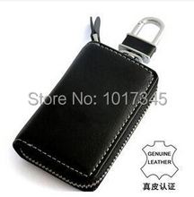 DHL Free Genuine Leather Car Key Bag/Wallet/Case/Holder For Volkswagen VW Multi Logo Optional key chains(China (Mainland))