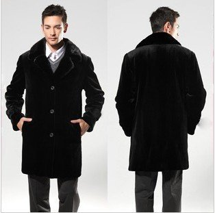 2013 winter coat Imitation warm pilot mink leather coat men fur jacket big size clothing men's leather motorcycle jacket FFM001