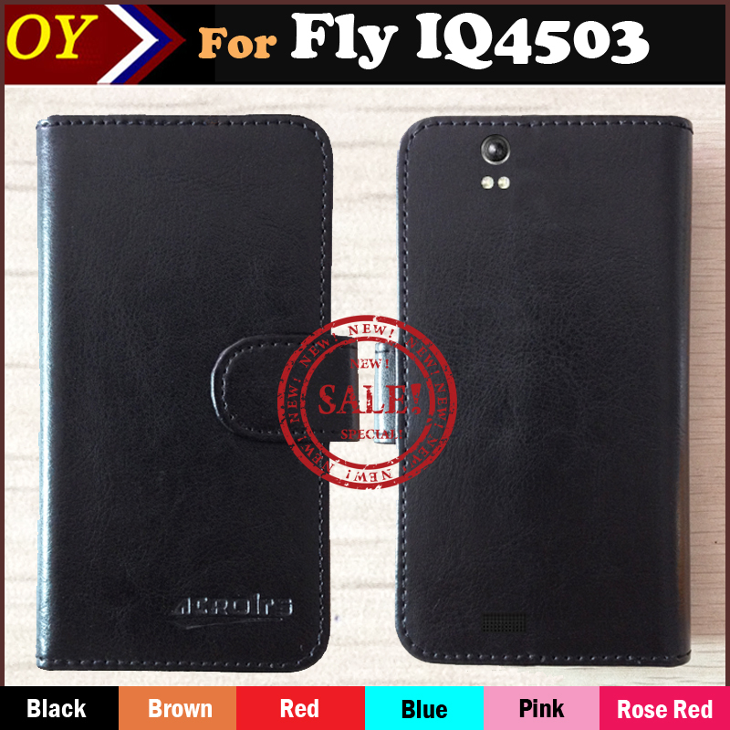 New Arrive Fly IQ4503 Quad ERA Life 6 Case Fashion Dedicated Side Slip Leather Protective Phone Cover Case Card Slot Wallet Bags(China (Mainland))