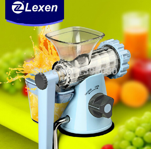 Latest Manual Lexen Wheatgrass juicer/Healthy Fruit Juicer machine 4 set Free shipping by DHL(China (Mainland))