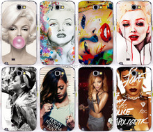 New Sexy woman Rihanna Marilyn Monroe Bubble Back Skin Phone Protective Cover Case for Samsung galaxy Note II Note 2 Note2 N7100(China (Mainland))