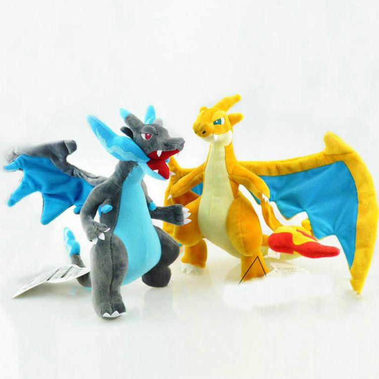 "Pokemon 9""-10"" Mega Evolution X&Y Charizard Plush Doll Stuffed Toy Soft Stuffed Plush Doll Cartoon Gift for Kid(China (Mainland))"