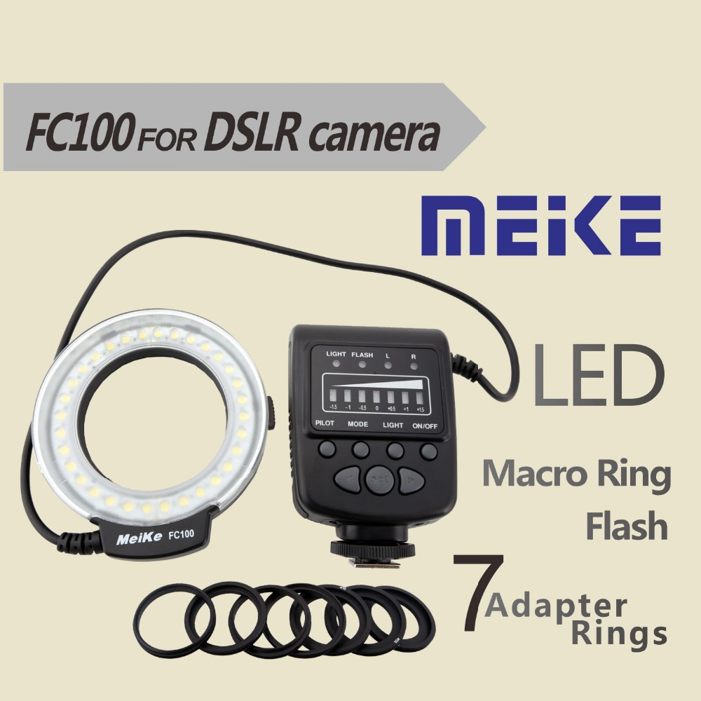 Meike FC100 Macro LED Ring Flash/Light for Canon Nikon Pentax Olympus 60D 70D 550D 650D D7000 D7100 D80(China (Mainland))