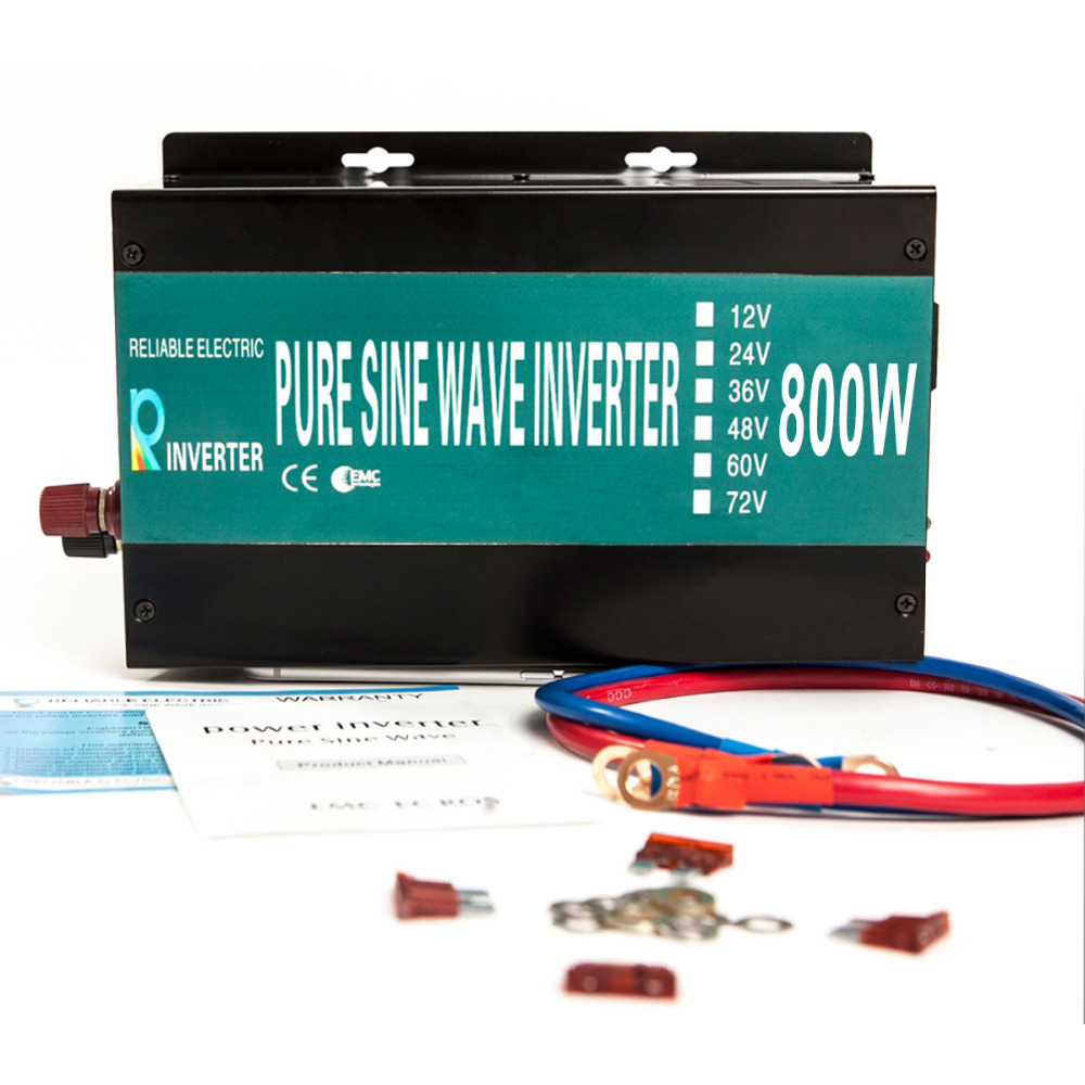 800W Continuous 1600W Peak Power Inverter Off Grid Pure Sine Wave Solar Power Inverter 800W 12V 240V 50HZ DC to AC Converter(China (Mainland))