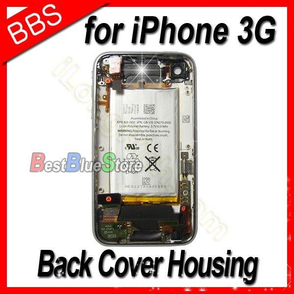 For iPhone 3G Back Cover Housing with Front Bezel Frame and Battery full set Assembly + free Sim Tray by free shipping(China (Mainland))
