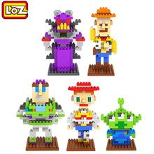 toy brick kid toys building blocks cartoon anime Toy Story loz diamond blocks toys figure Buzz Lightyear enlighten children gift