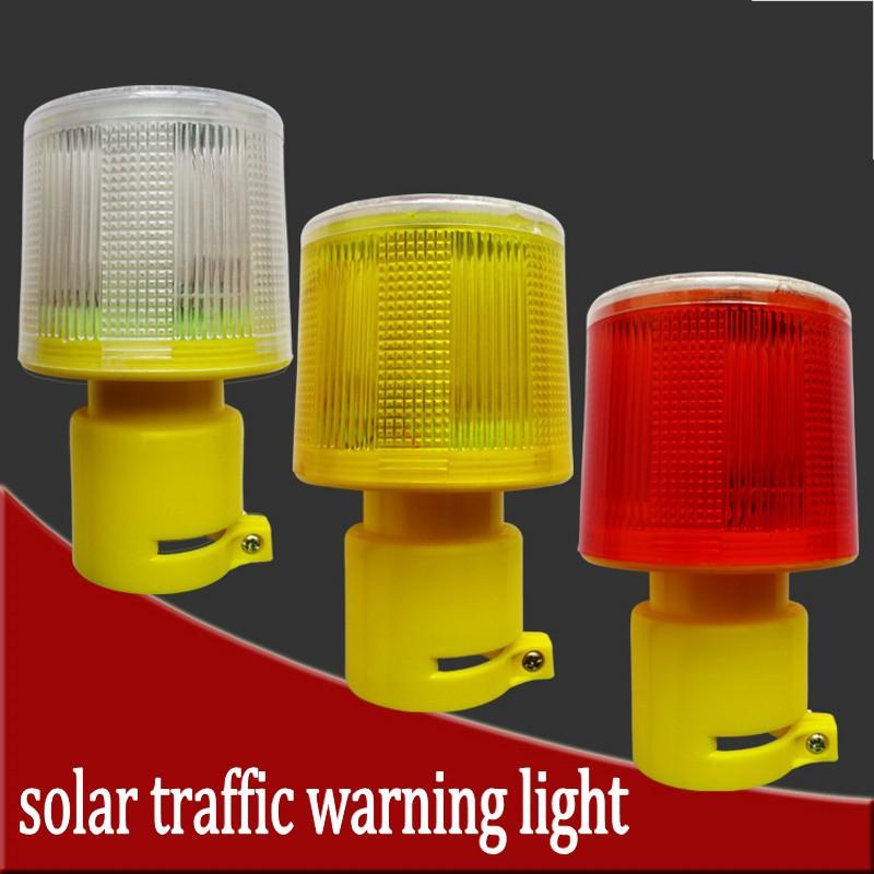 Retail Free shipping,solar powered traffic warning light,LED soalr safty signal beacon alarm lamp(China (Mainland))