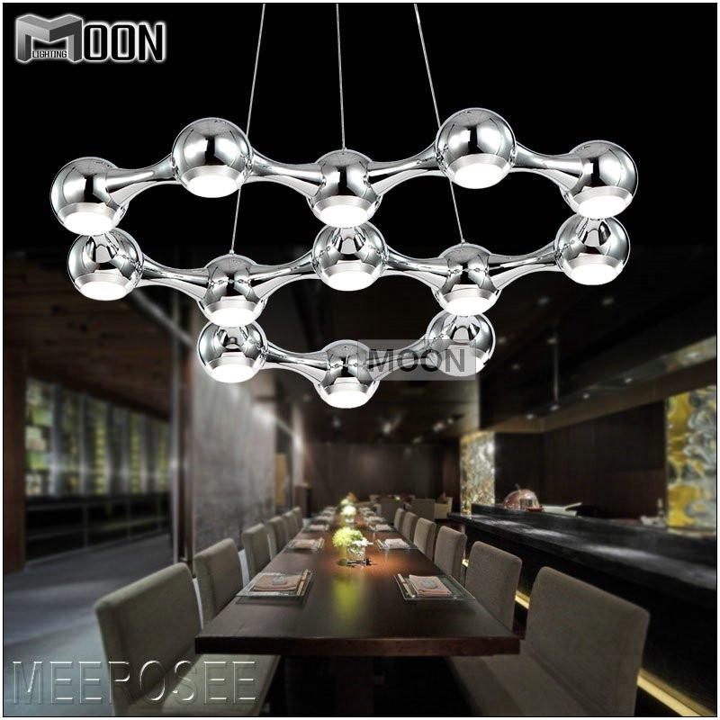 Hot sale LED Chandelier Light Black Silver Modern LED Chandelier Suspension Hanging Lighting 100% Guarantee(China (Mainland))