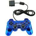 Clear Blue For PS2 Game Controller Wireless Double Vibration Joystick For Playstation 2 Gamepad