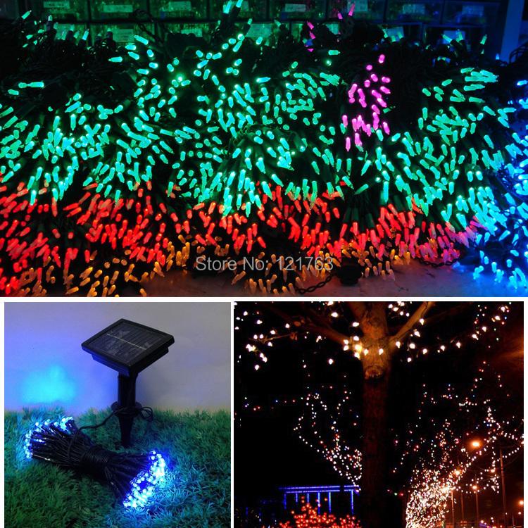 Led String Xmas Lights : Waterproof Garden lights 12m 100 LED string light Solar LED Fairy light String Lantern for ...