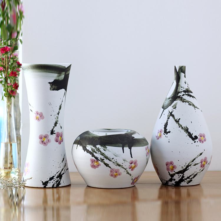 Modern Chinese Pure Handmade Ceramic Vase Flower Table
