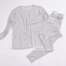 New arrival male silk underwear set 100% silk Thickening two-faced basic  high quality long johns(China (Mainland))