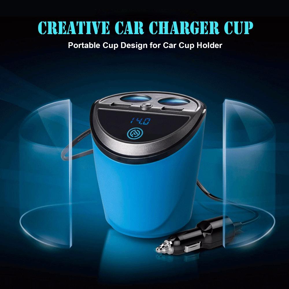 12V-24V 120W Cigarette Lighter Power Socket 3.1A USB Car Charger Cigarette Lighter Socket Adapter Quick Charge with Voltage LED(China (Mainland))