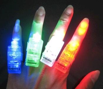 free ship 10pcs/lot LED finger lamp, ordinary finger lamp, optical finger light finger lamp