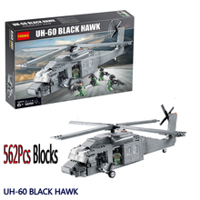Decool 2114 562Pcs Model Building Kits Military UH-60 Black Hawk Plane Airplane Helicopter Blocks Set Bricks Eductional Toy Gift